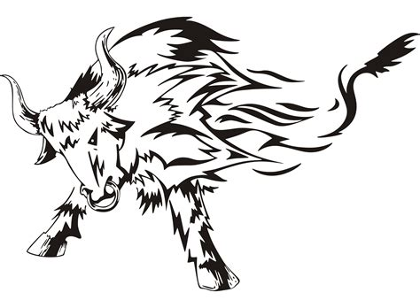angry bull tattoo design bull tattoos