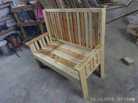 benches made from pallets garden bench made from pallets