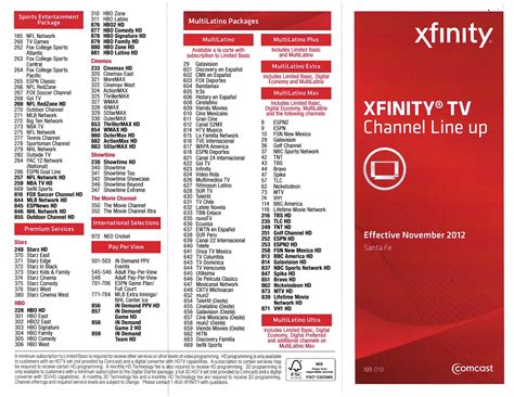 comcast xfinity printable channel guide xfinity channel lineup printable video search engine at