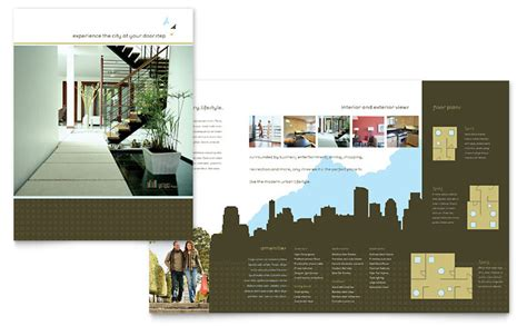 urban real estate brochure template word publisher