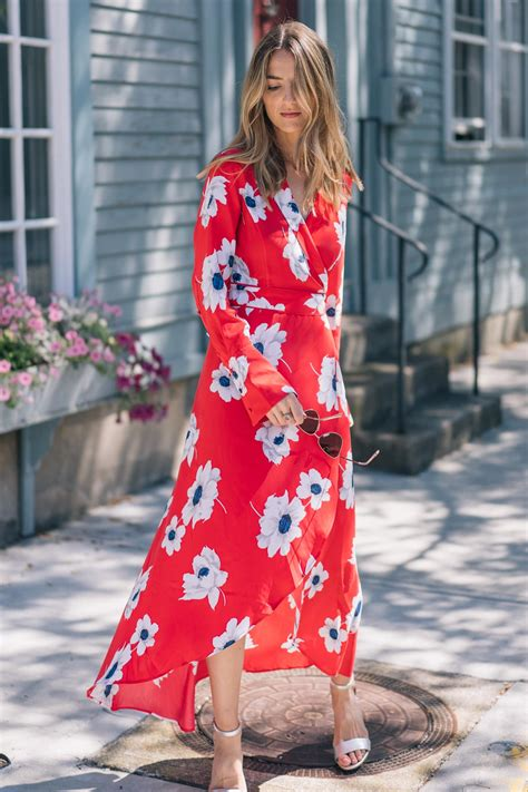 Bright Colored Wrap Dresses - 5 wrap dresses for fall jess kirby