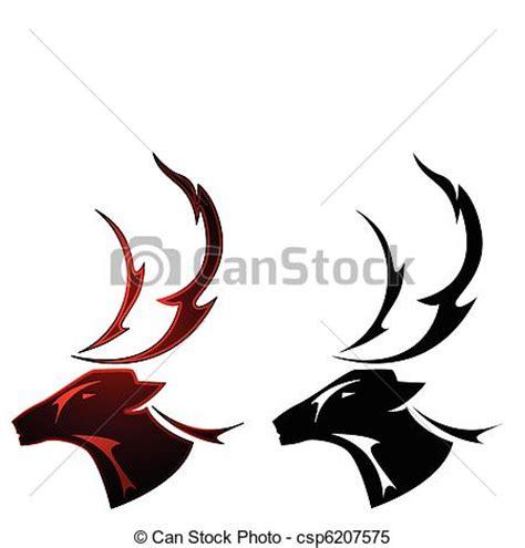 clipart vector van hert ontwerp tatoe 235 ren een hert