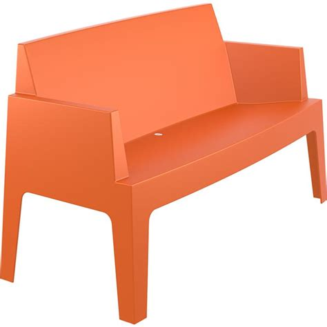 banc canape banc canape box empilable orange