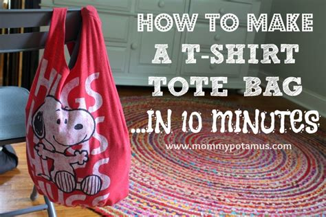How To Make A T Shirt Out Of Paper - how to make a no sew t shirt tote bag in 10 minutes
