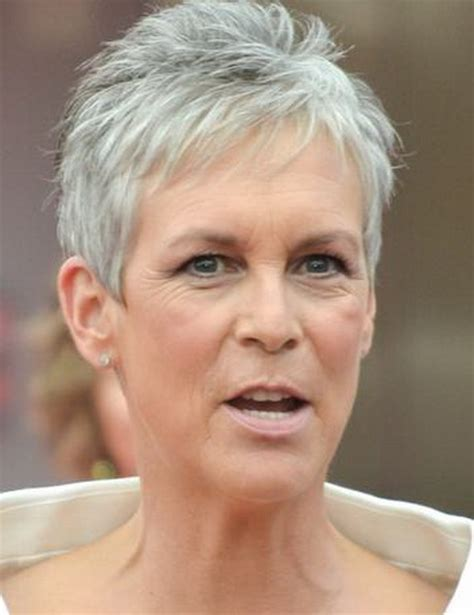 extremely short hair cuts for women with gray hair over 50 years old jamie lee curtis on pinterest jamie lee gray hair and