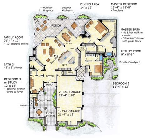 florida home plans with pictures house plan 56549 at familyhomeplans com