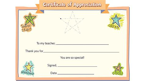template of certificate of appreciation for teachers