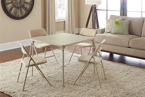 cosco 5 card table set card table and chairs set costco folding 5 pc portable