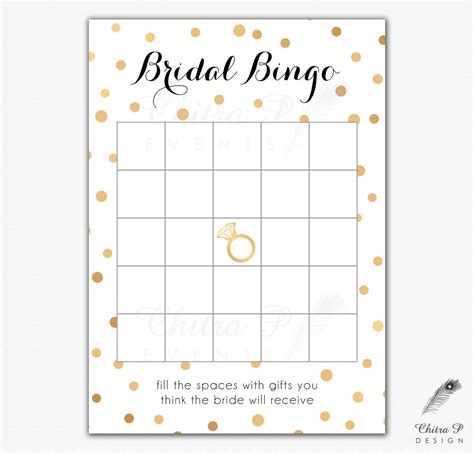 printable bridal shower gift bingo cards black gold bridal shower bingo cards printed or printable