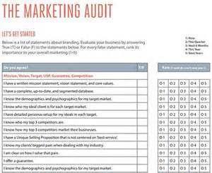 marketing audit template free word excel documents