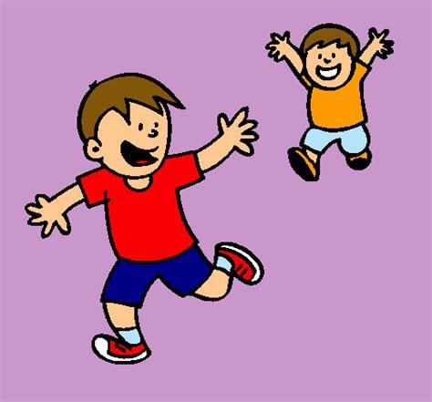 imagenes niños corriendo ni 241 os corriendo en dibujos imagui