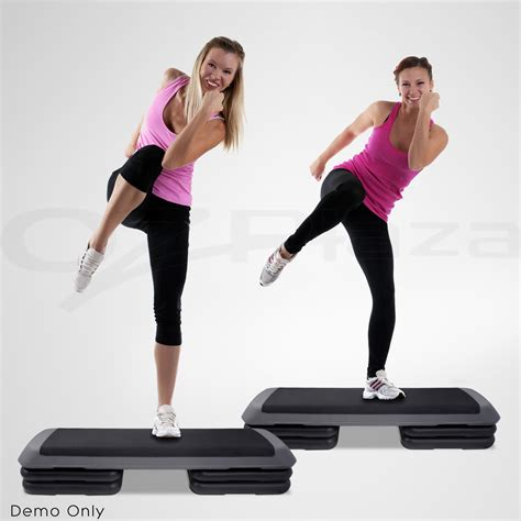 workout step bench everfit aerobic gym workout exercise cardio fitness bench