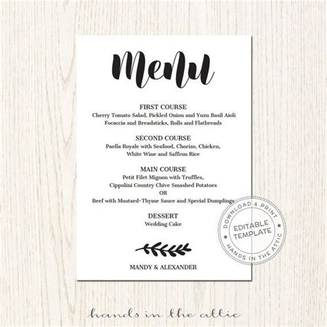 menu place cards template 50 best wedding place cards images on wedding