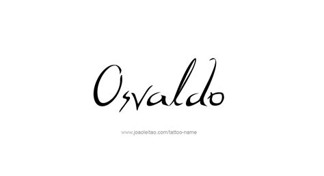 osvaldo name tattoo designs