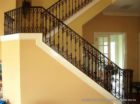 iron stair rails and banisters wrought iron stair railing southeastern ornamental iron