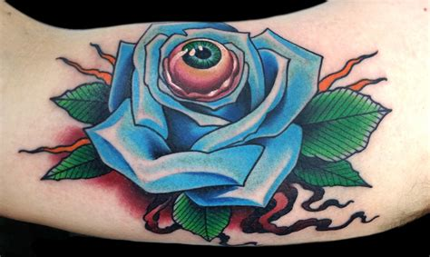 rose with eye tattoo jeff ensminger www imgkid the image