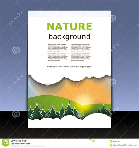 cover design nature flyer or cover design royalty free stock image image