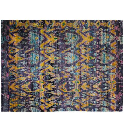 indian silk rugs indian sari silk rug for sale at 1stdibs