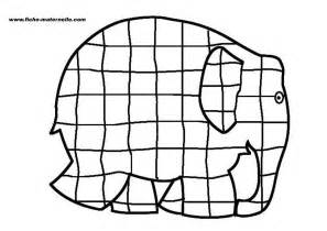 elmer patchwork elephant colouring pages