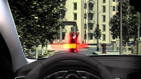 Volvo Pedestrian Detection Overview - YouTube Warning Systems