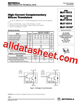 a1023 transistor datasheet pdf mj11016 fiche technique pdf on semiconductor