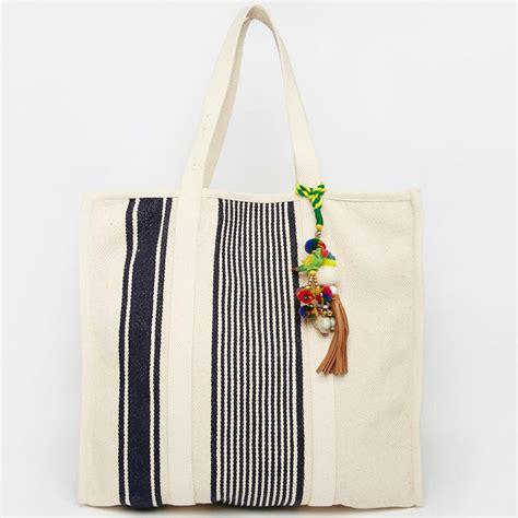 Quincylabel Tote Bag Navy 1 label tote bag handbags navy stripe canvas cotton bag buy canvas cotton bag navy