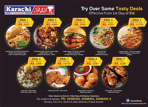 The Number To The Food St Office by Karachi Foods Restaurant Karachi Foods Restaurant Menu