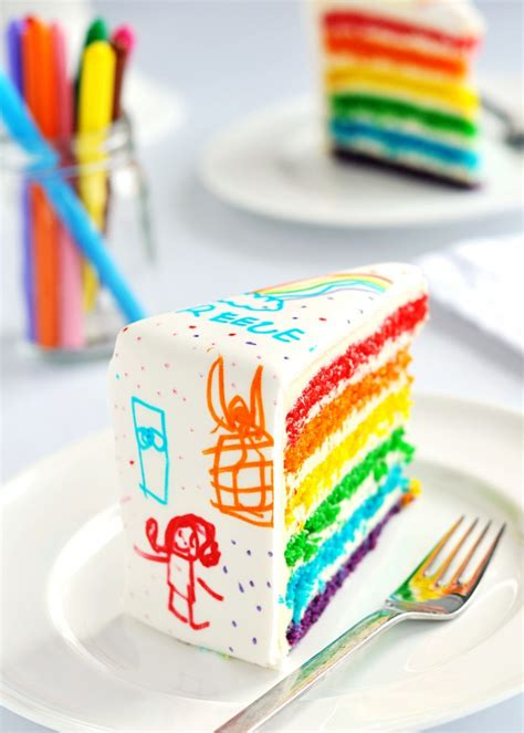cake doodle ideas artificial colors rainbow doodle birthday cake by