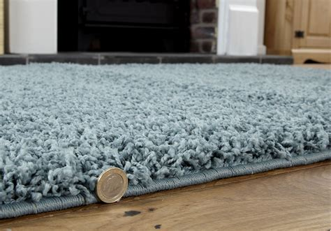 Duck Egg Blue Rug by Small To Large Modern Rug Duck Egg Blue Thick 5cm