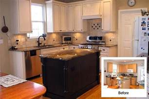 Refaced Kitchen Cabinets Before And After Cabinet Refacing Before And After Kitchen Pinterest
