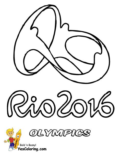 Olympic Coloring Pages by Sporty Olympic Coloring Pages Yescoloring Free