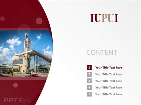 Indiana University Purdue University At Indianapolis Powerpoint Template Download 印第安纳大学 普渡大学 Purdue Powerpoint Template
