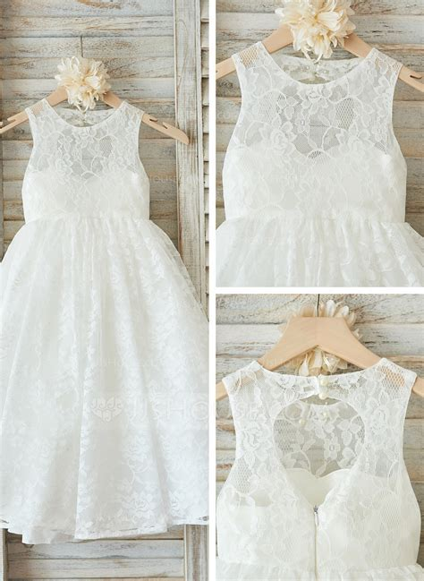 A Line/Princess Floor length Flower Girl Dress   Tulle