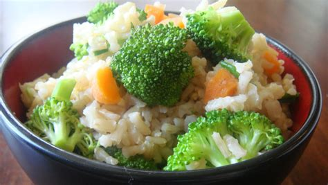 vegetables and rice nutrition