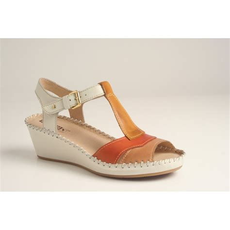 Fdl 503 Sendal Wedgea Casual pikolinos pikolinos wedge sandal style 943 7614 in high grade leather with leather lining