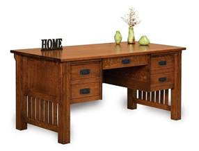 Mission Style Office Desk Amish Mission Craftsman Executive Computer Desk Office Furniture Solid Wood Ebay