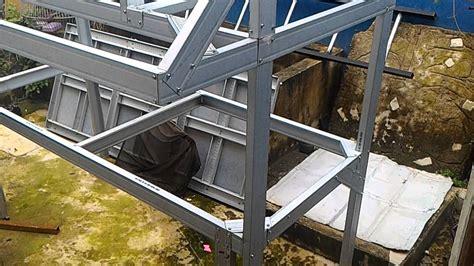 membuat rumah dari baja ringan kandang ayam dari baja ringan youtube