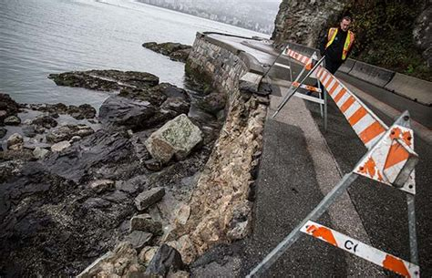 Wind After C Section by Photos Section Of Stanley Park Seawall Collapses From