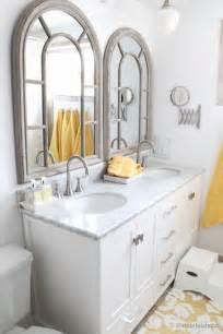 Updated Bathroom Ideas by Remodelaholic Updated Bathroom Single Sink Vanity To