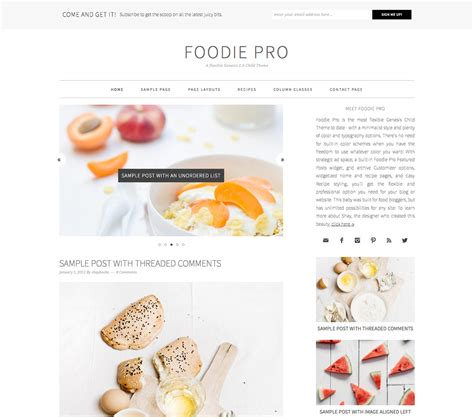 Wordpress Themes Free Food Blog | food blog wordpress themes minimalist baker blog resources