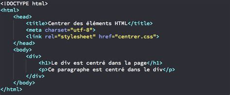 div element centrer horizontalement un 233 l 233 ment html gr 226 ce au css