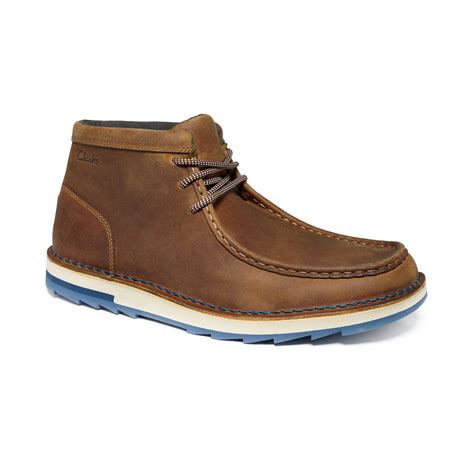 clarks mens chukka boots clarks mumford folk chukka boots in brown for lyst