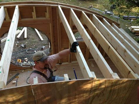 how to build a house frame how to build a hobbit house building process and house