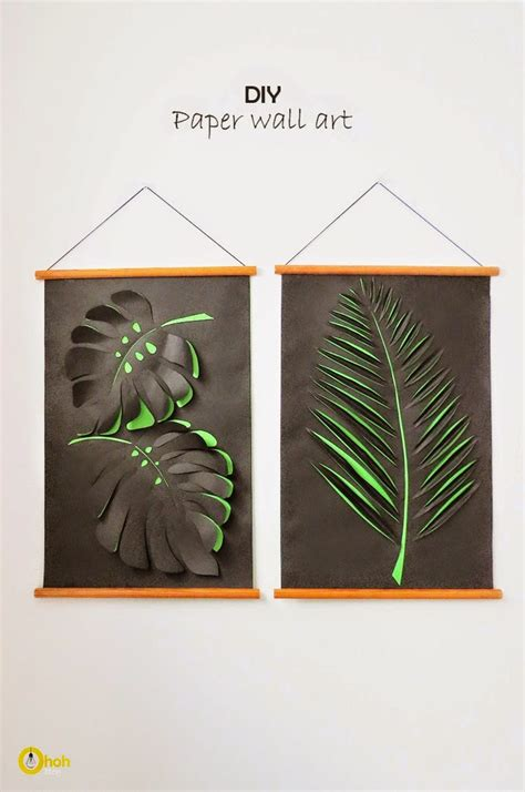 Paper Craft Wall Decorations - diy paper leaf wall diy craft projects