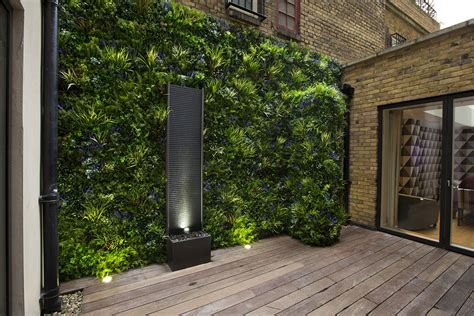 Garden Feature Wall Designs Green Walls Artificial Green Wall Garden Design Garden