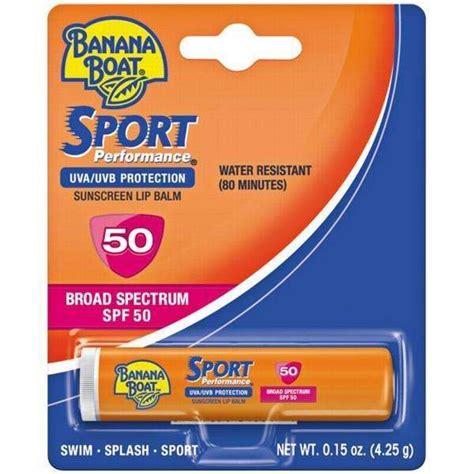 banana boat lip balm spf 50 banana boat sport sunscreen lip balm spf50 water