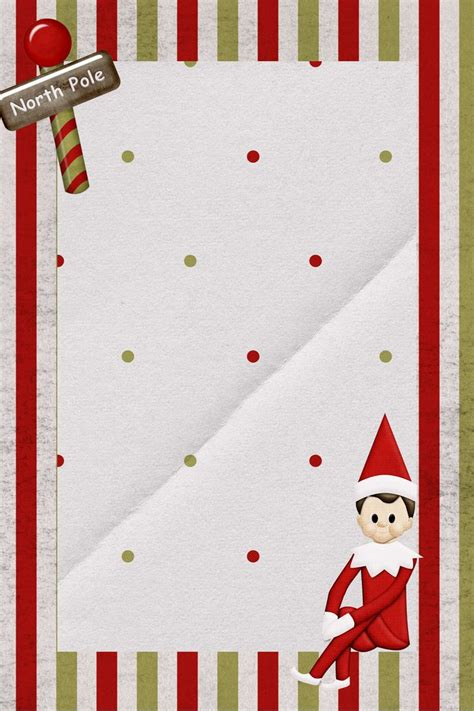 elf on the shelf blank printable letter super cute free downloadable elf on the shelf note
