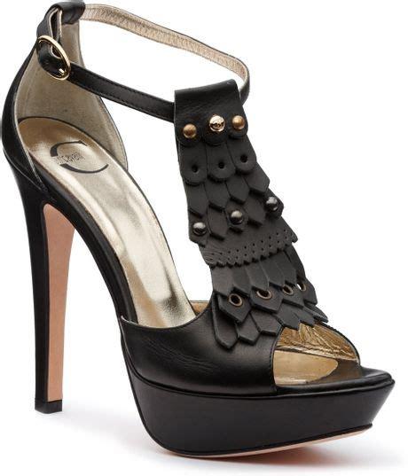 Sandal Wanita Vavali Black High Heels Vavali Sandal Wanita just cavalli shoes black in black lyst