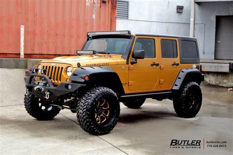 orange jeep rubicon custom black and orange jeep rubicon on black rhino glamis
