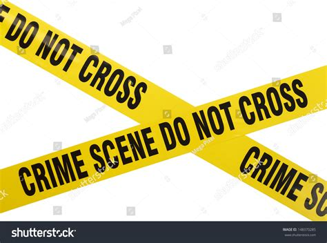 Does A Warning Go On Your Criminal Record Yellow Plastic Crime Do Not Stock Photo 148370285